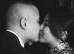 Kiss Bride and groom wedding hong kong