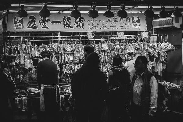 bancarella della carne a Hong Kong_00035