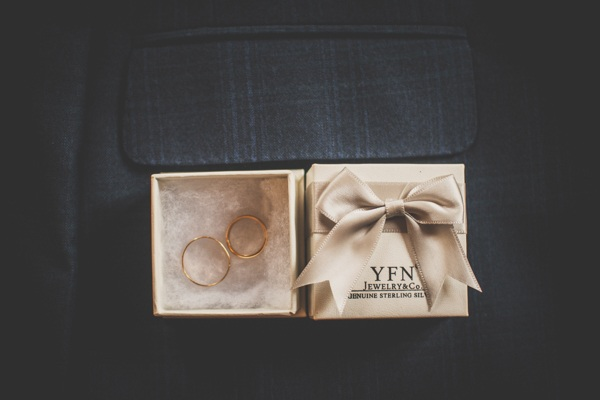 The rings of the newlyweds