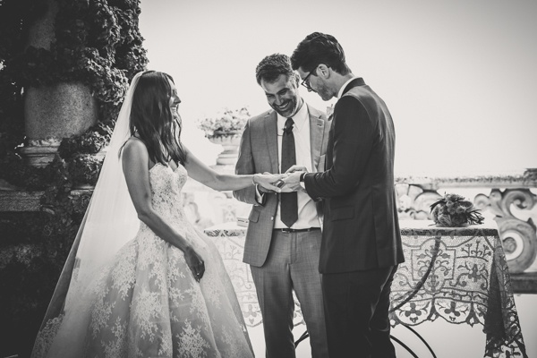 wedding celebration at Villa Balbianello