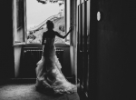 Bride in front of the window
